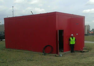 Fire Pump Enclosure Red