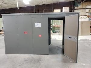 Hinged double doors