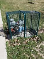 backflow-preventer-cage at a school