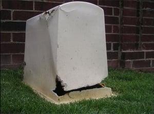 fiberglass-enclosure-weed-eater-damage