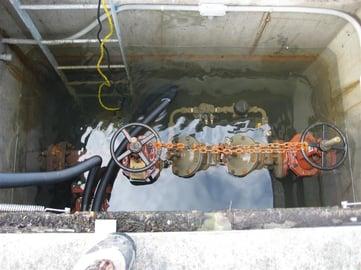 Flooded Backflow Preventer Vault