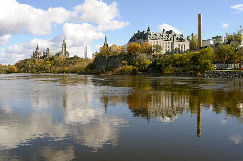 Parliament Hill in Ottawa Canada during the day