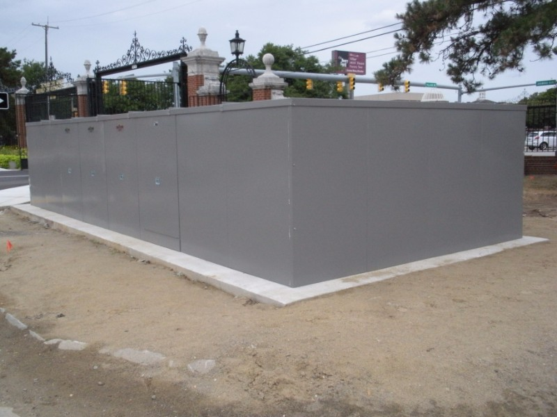 slate grey industrial enclosure