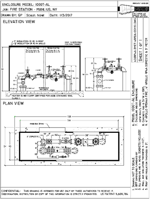 backflow enclosure with two devices
