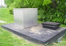 Backflow Preventer Enclosure on Top of Vault