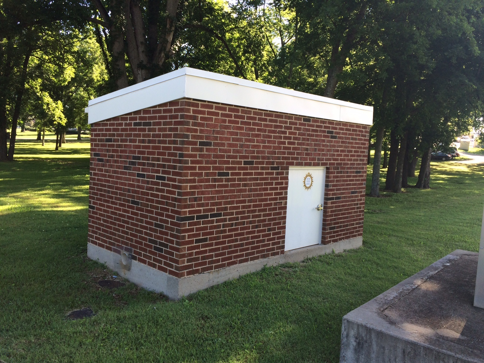 brick backflow enclosure