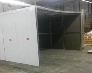 Equipment Enclosure for a Fire Water Storage Tank