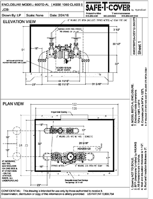 dual enclosures drawing