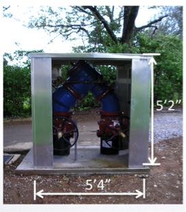 n-type backflow preventer in small aluminum enclosure