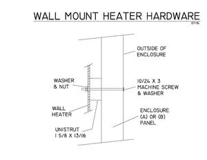 WALL HEATER MOUNT