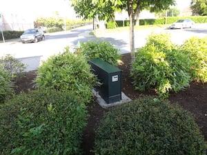 hartford green enclosure in landscaping