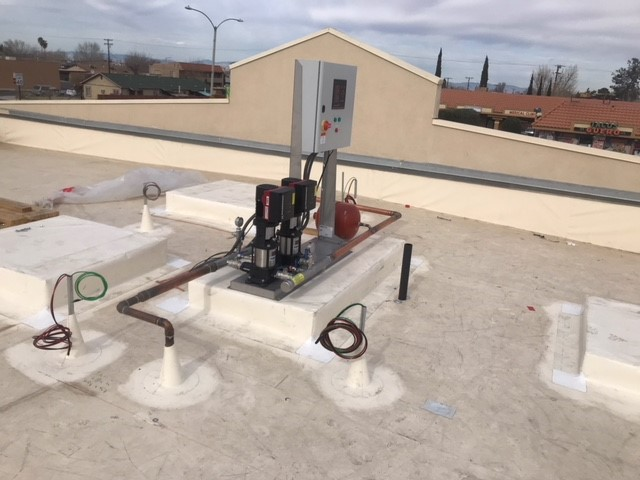 pump skid on the roof needs outdoor pump cover
