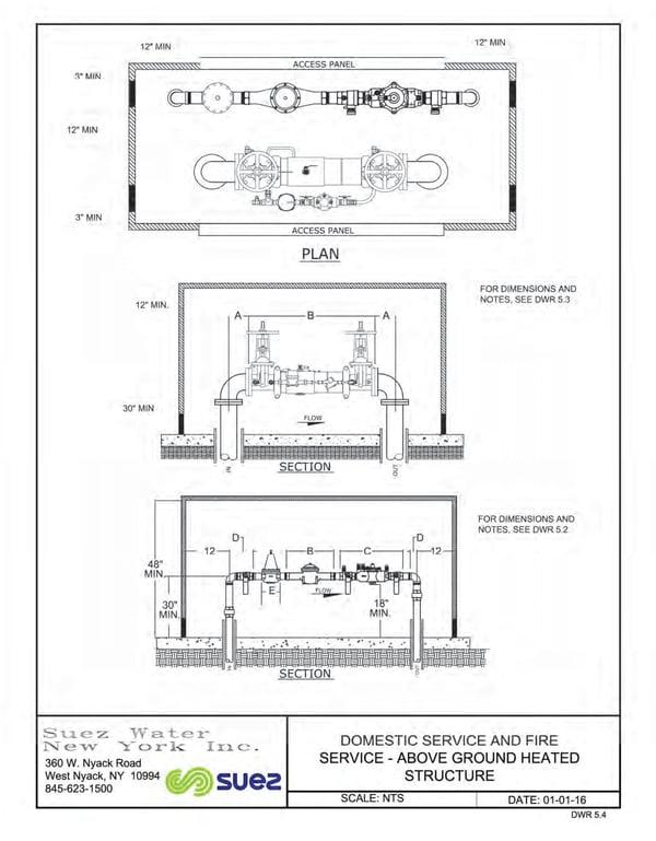 suez dual backflow preventer standard detail